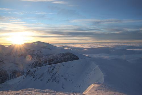 Soloppgang i Rondane
