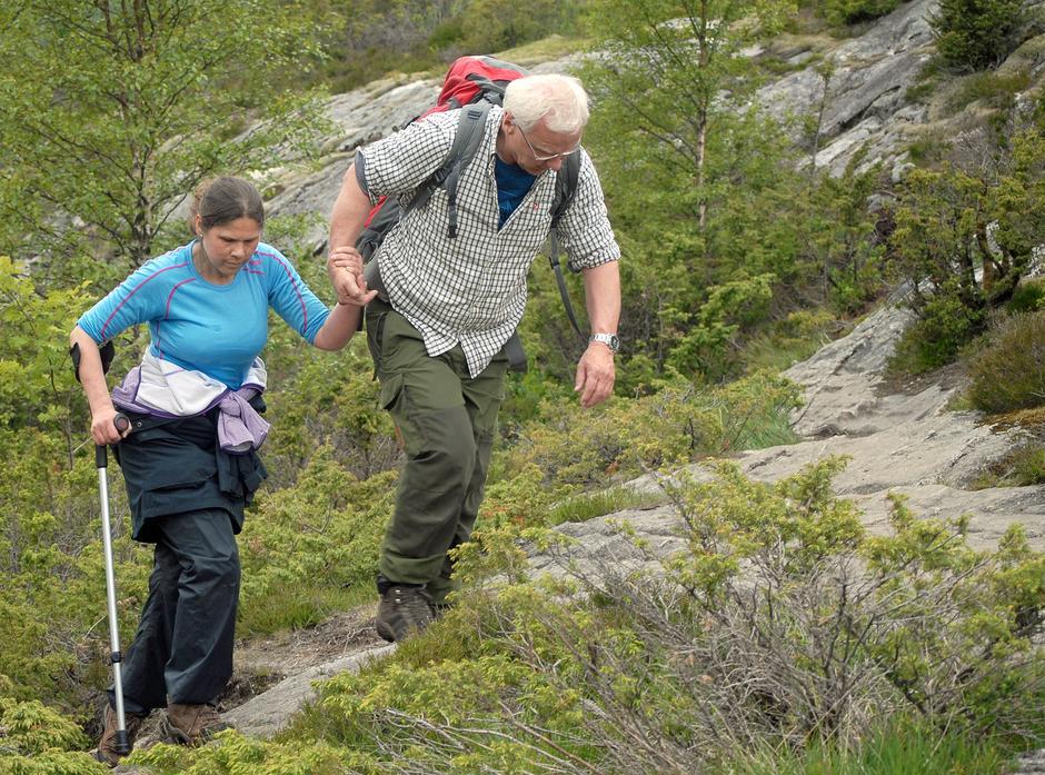 Ei god hånd å holde i for Vibeke Kaarstad sammen med Tor-Arne Kongsgård.