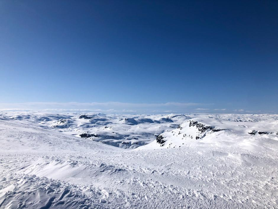 Skareføre i nord- og vestvendt terreng