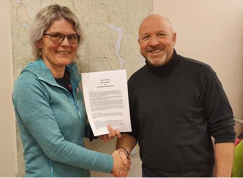 Avtale mellom DNT Ringerike og Steinsletta Havkajakklubb