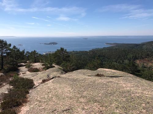 Utsikt fra Skogfjell over Oslofjorden.