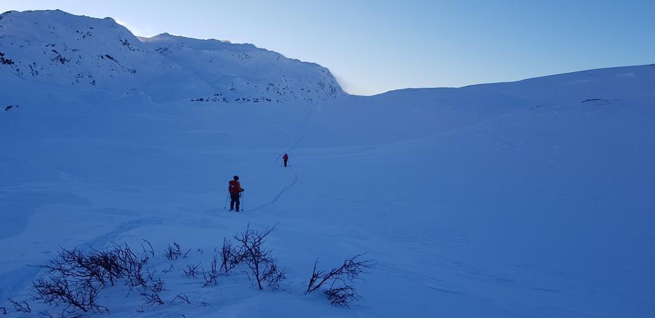Onsdag 13.1: På vei til Vending fra Hamlagrø. Bergsdalen. Nå er det spor til neste. God tur!