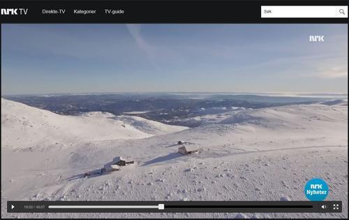 Høgevarde på NRK