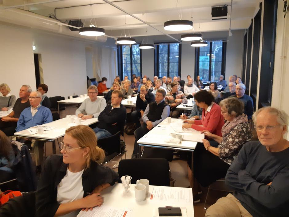 Deler av forsamlinga på seminaret i Oslo 10. november.