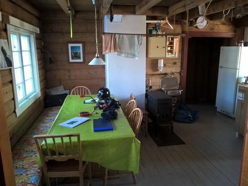 Kjøkkenet på Schulzhytta