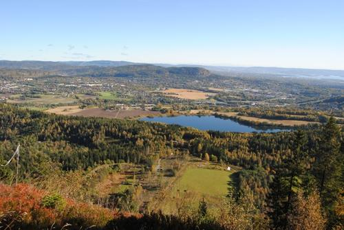 Utsikt fra Ramsåsen mot Kolsås.