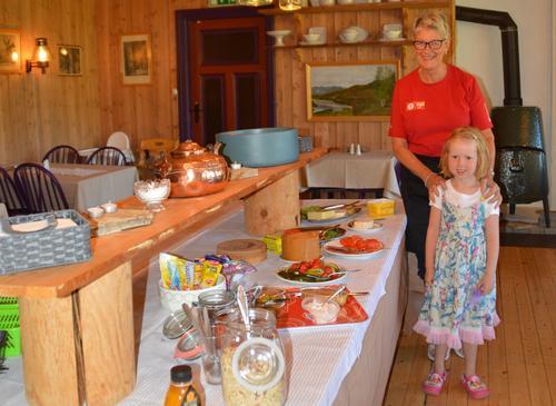 I matsalen på Solheimstulen