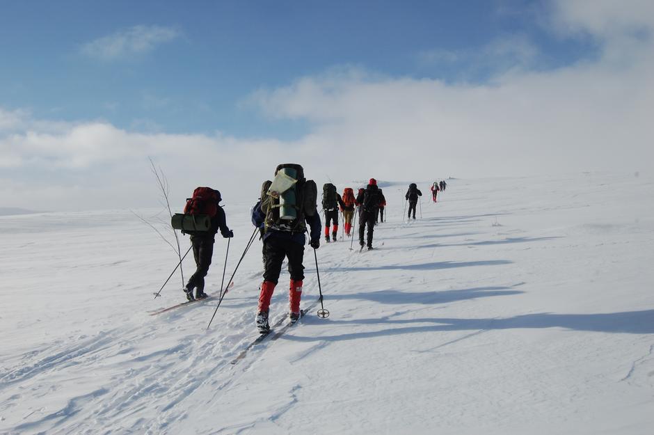 13. februrar forteller Camilla Horten om fellesturer før og nå. Bildet er fra fellestur på Hardangervidda.