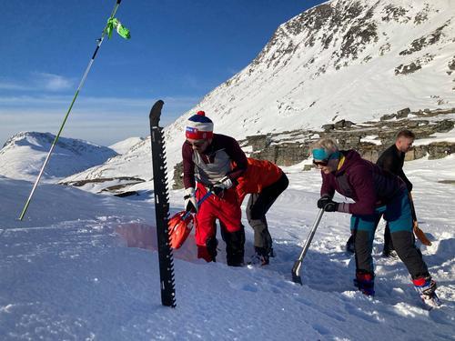 Kursreferat fra grunnkurs skred alpint i Innerdalen