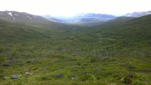 Utsikt mot Berdalsbu
