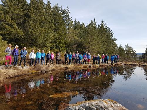 Onsdagsgruppa sin tur til Haganesfjellet frå Liaskjeret 05.05.2021.