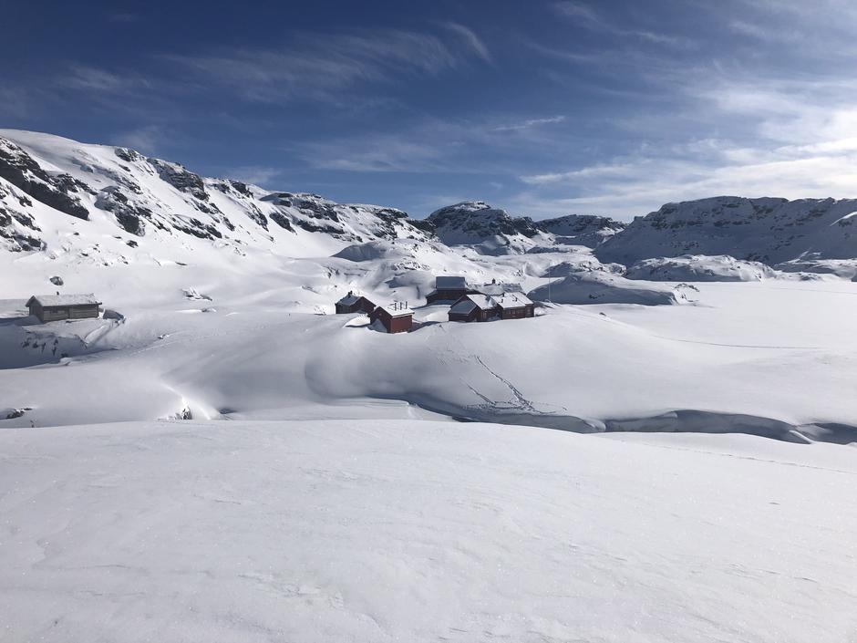 Stranddalen 10 mars. Flotte skiforhold i Suldalsheiene.