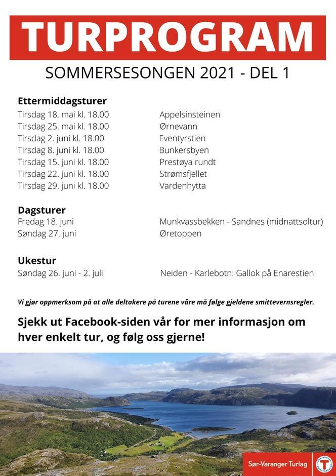 Sommerens turprogram 2021 - del 1