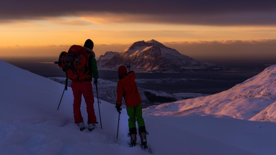 Vinneren av fotokonkurransen under Arctic Freeride Event 2019