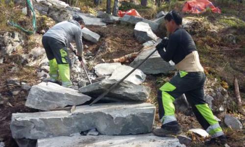 Neste uke starter steinarbeidene ved Nebba