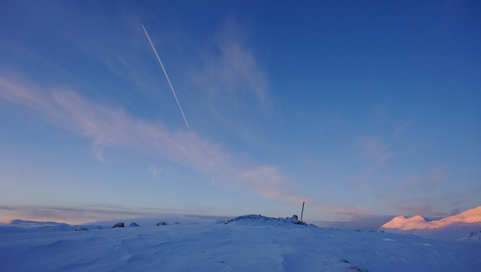 På vei til Danskehytta fra Grotli 2. januar.