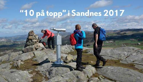 10 på topp i Sandnes