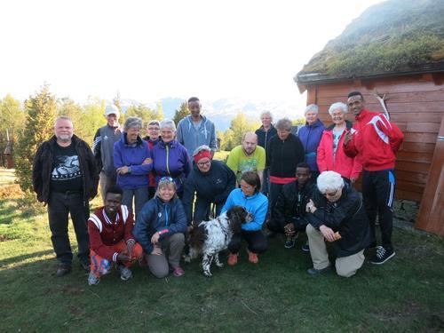Onsdagstur opp Holvikfossen og til Gloppestadstøylen