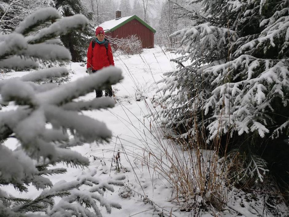Turen går innom Burås i Lillomarka