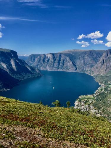 Utsikt over Aurlandsfjorden fra Hovdungo