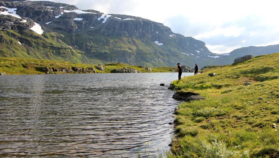 I dette lille tjernet like ved Lonavatnet blir det tatt flotte ørreter hvert eneste år.