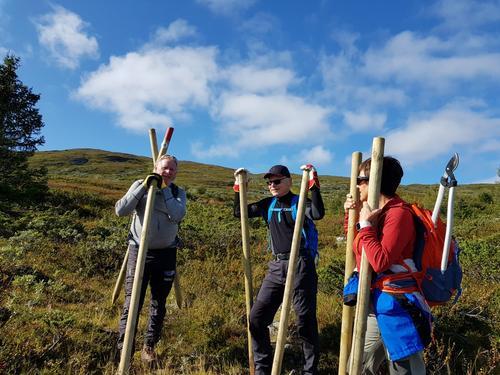 2. helga i september hadde DNT Valdres dugnad på Stølsruta