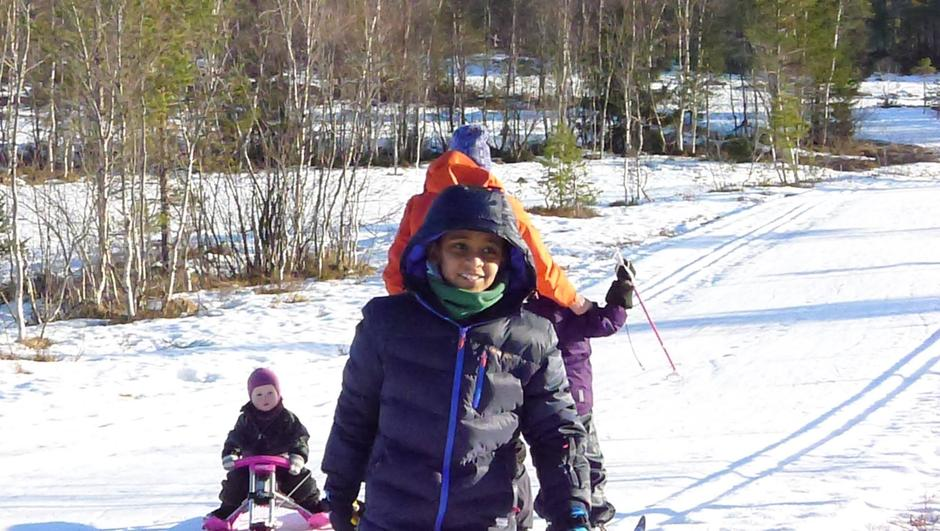 Skitesting i løypene på Osmarka
