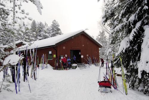 På ski i Kjekstadmarka