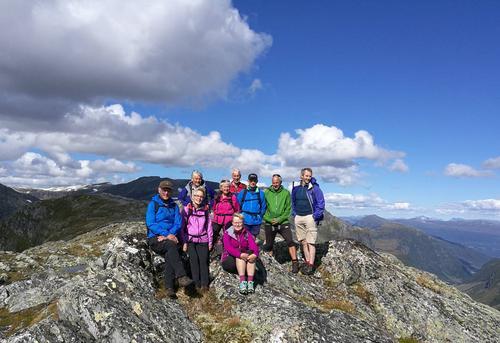 Vardefjellet og over Eggene i Jølster. Her på høgste punktet 1301 moh.