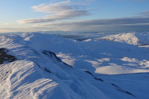 Utsikt fra toppen av Fuglafjellet.