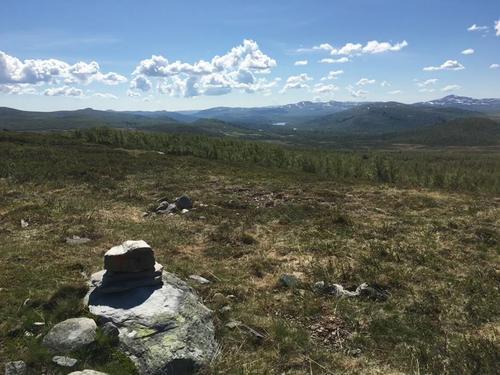 Utsikt fra Vakkerlifjellet