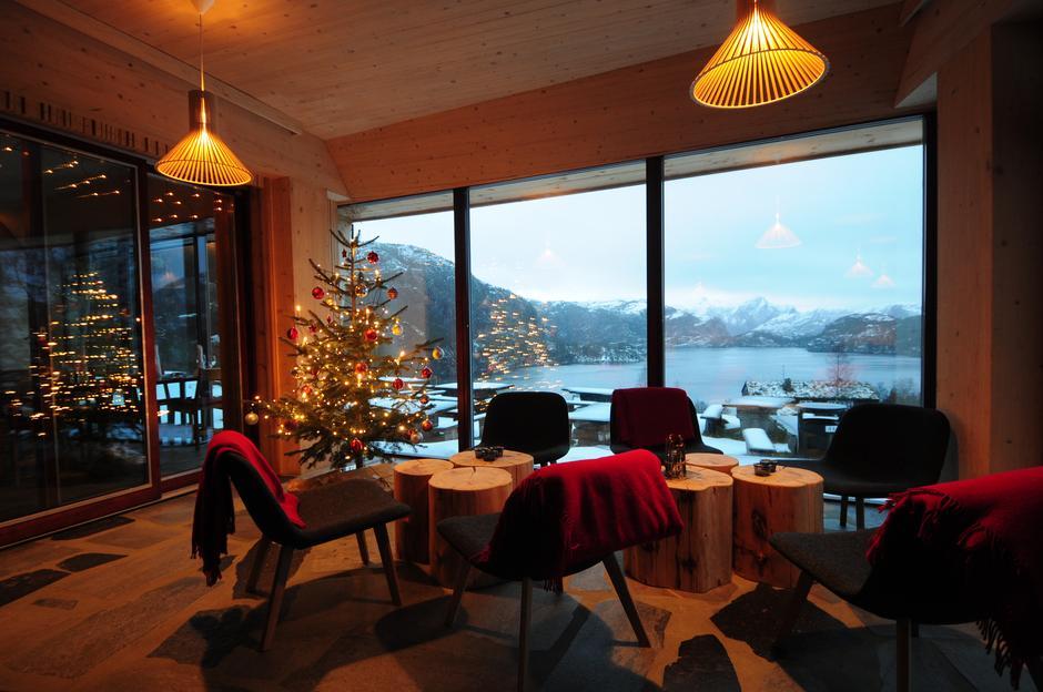 Jul på fjellstua