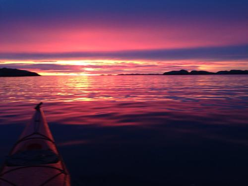 Svenskekysten i solnedgang