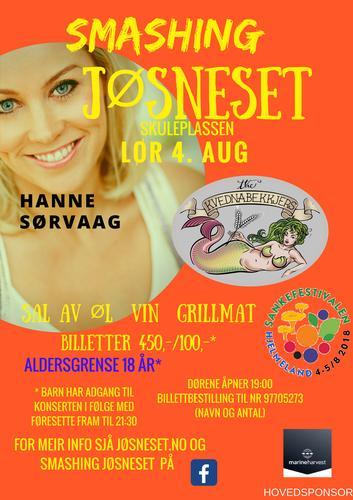 Konsert med Hanne Sørvåg. Egen påmelding til konserten.