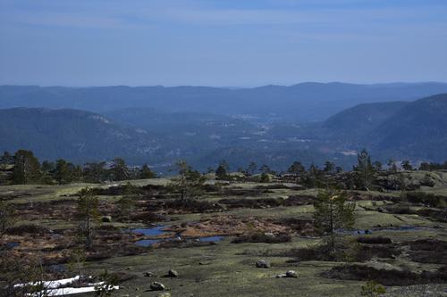 Flott utsikt mot Drangedal