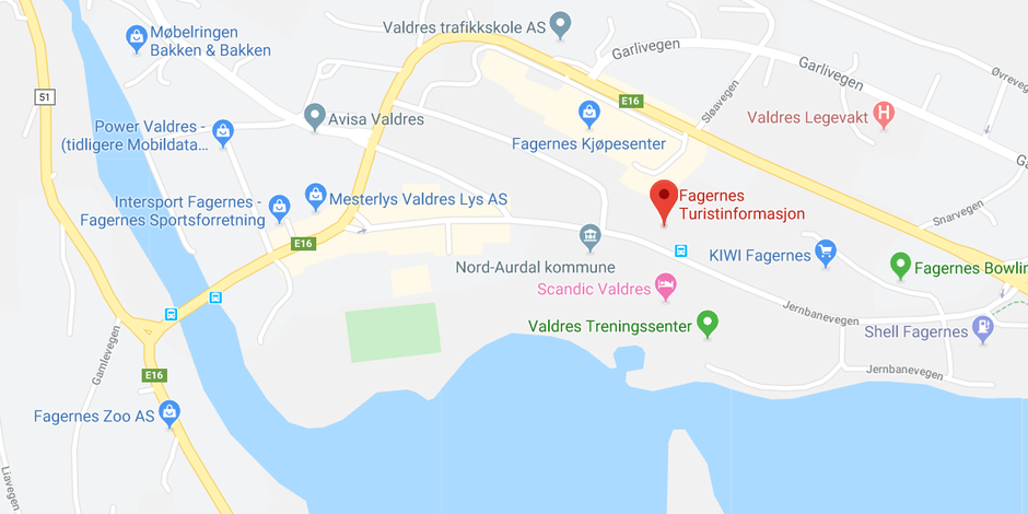 Fagernes Turistinformasjon, Jernbanevegen 7, 2900 Fagernes