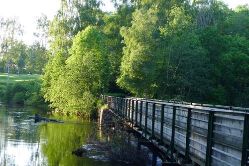 Bruen mellom Oslo og Bærum, over Lysakerelven.