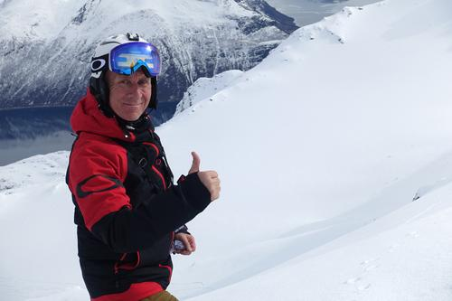 Verdig markering av Olav Solberg på Nona 1012 moh.