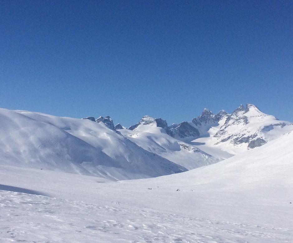 Hurrungane fra Uradalen mot Skogadalsbøen