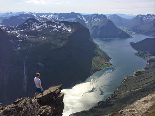 utsikt over Norangsfjorden