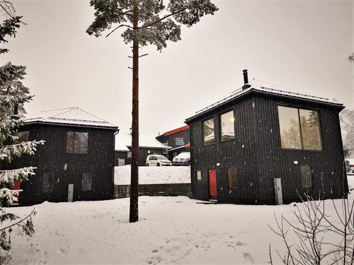 Det nye sovehuset på Kobberhaughytta er snart ferdig.