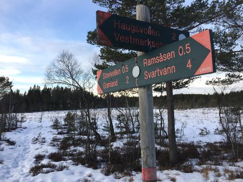 Fra Breimåsan i Vestmarka, hvor turene ofte går innom.