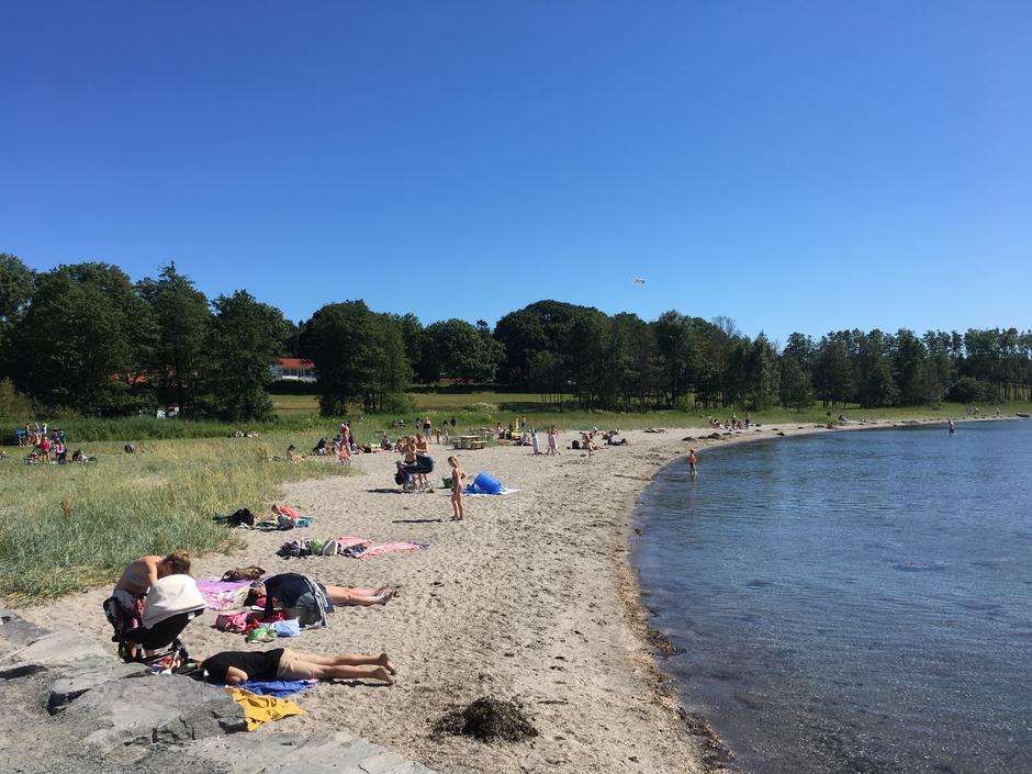 Tilbring noen late  timer på stranda etter guidingen!