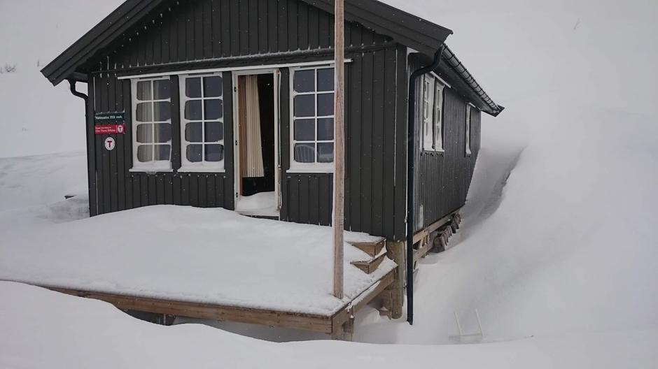 Hytte uten verandadør