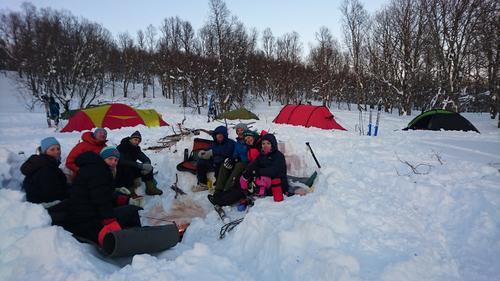 Telt og topptur i Malangen