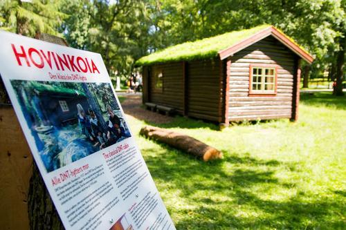 Siste sjanse til å oppleve hytteliv i Slottsparken