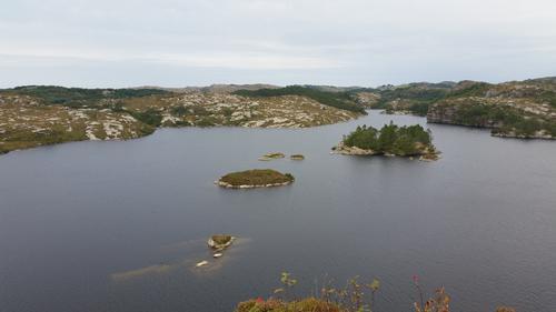Fin utsikt over Kørelen fra Purkeneset
