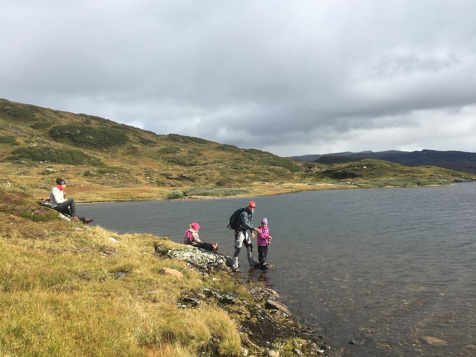 Fisking ved Lars-Ola vatnet