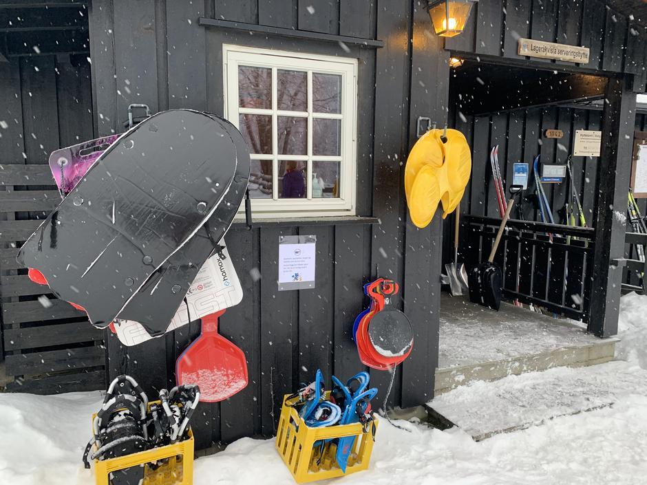 Utlånsutstyr på Lageråkvisla