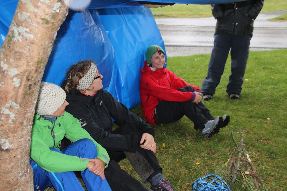Deltakarar på Aktivitetskurset laurdag som Kristin Oftedal hadde ansvar for.